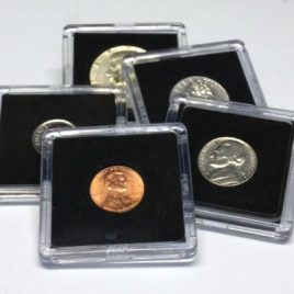 25 Assorted Coin Snap Holders, 5 Different Sizes