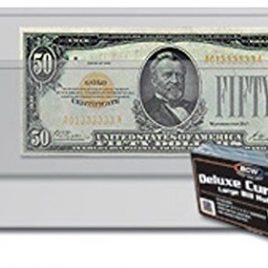 (10) Deluxe US Currency Paper Money Bill Holder Protectors for Older Large Bills by BCW