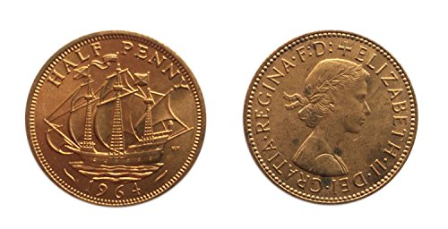Coins for collectors – Uncirculated British 1964 Half Penny / Halfpenny Coin / Great Britain