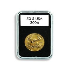 (5) Lighthouse Quickslab 30mm Coin Capsule Re-closable Slab for Kennedy Franklin Half Dollar