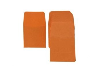 Archival Paper Coin Envelopes 2×2 Orange by Guardhouse 50 Pack