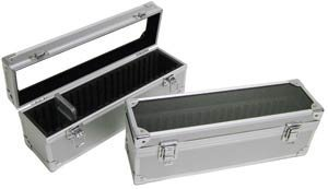 Aluminum Storage Box for 20 Universal Coin Slab Holders by Guardhouse