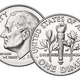 1996 W Roosevelt Dime Uncirculated US Mint