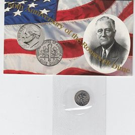 1996 W Roosevelt Dime 50th Anniversary of the Roosevelt Dime-SEALED IN U.S. MINT CELLO — MUST HAVE to complete any dime set Dime MS-67 US Mint